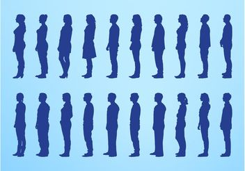Standing People Silhouettes - Kostenloses vector #157985