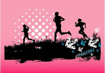 Running People - vector #158005 gratis
