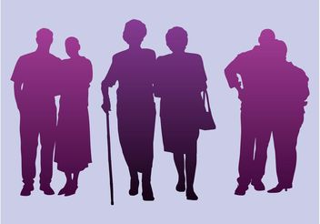 Elderly People - vector gratuit #158085