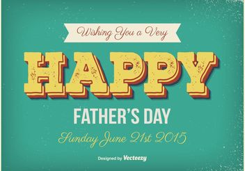 Vintage Father's Day Poster - vector gratuit(e) #158205