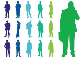 Silhouettes Of Men - vector gratuit #158255