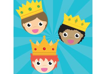 Three King Vectors - Free vector #158295