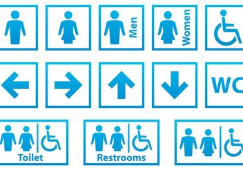 Blue and White Restroom Signals - бесплатный vector #158445