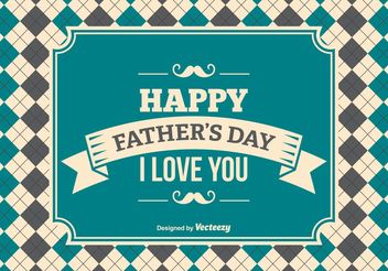 Father's Day Background Illustration - Free vector #158475