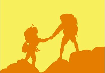 Mountain Hiking - Free vector #158635