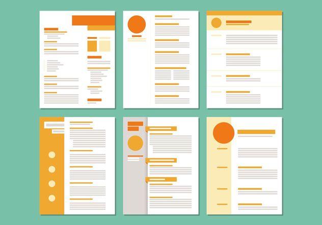 Curriculum Vitae Layout Templates - Free vector #158705