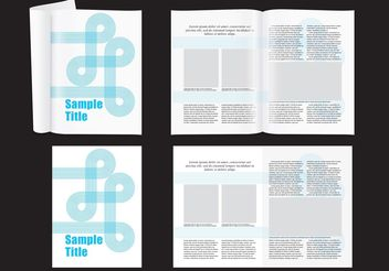 Modern Magazine Layout - Free vector #158745