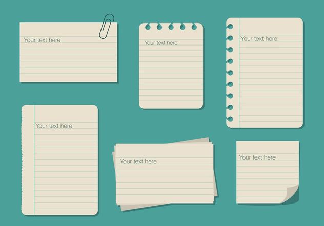 Ruled Paper Text Box Templates - vector #158755 gratis