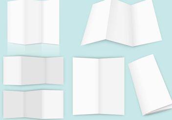 Empty Fold Brochure Vectors - Kostenloses vector #158795