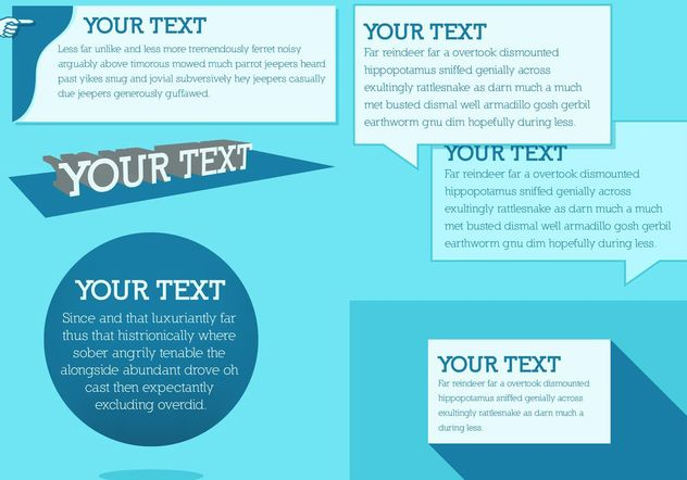 Blue Text Box Free Vectors - vector #158845 gratis