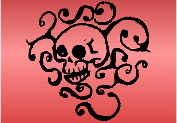 Skull Layout - vector #158855 gratis