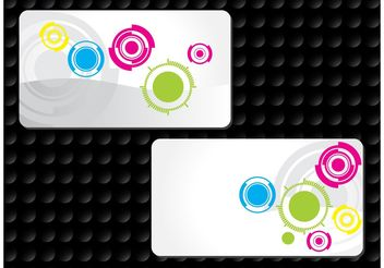 Circles Business Cards - vector gratuit #158965