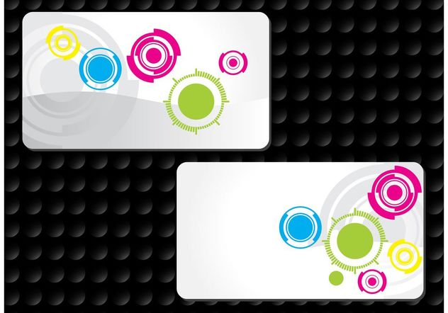 Circles Business Cards - vector #158965 gratis