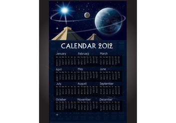 Mayan Calendar Vector - Free vector #159245