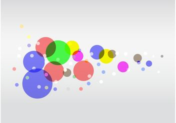 Colorful Circles Vector - vector #159255 gratis