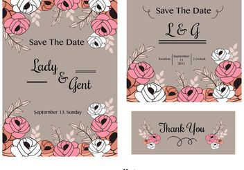 Wedding Invitation Cards - Free vector #159435