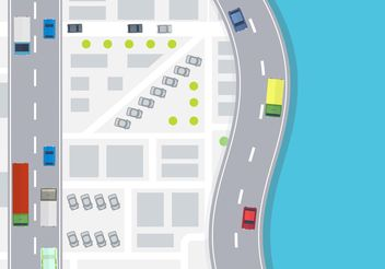 Car Aerial View Vector - Free vector #159575