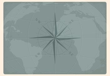 Free Vector Old Nautical Earth Map - Free vector #159595
