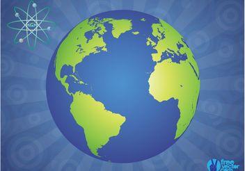 Glossy Globe - vector gratuit #159625