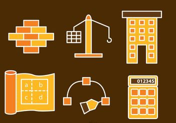 Architecture And Construction Icons Vectors - vector gratuit #159735
