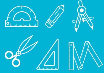 Architecture Tools Vector Outlines - Free vector #159765