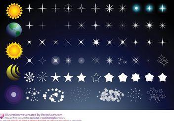 Sun Stars Moon - Free vector #159775