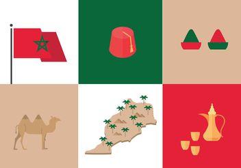 Morocco Culture Vectors - vector gratuit #159925