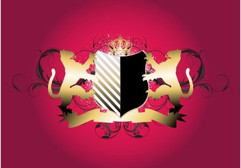 Lions Shield - vector #160015 gratis