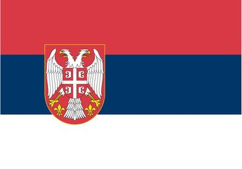 Serbian Flag Vector - Kostenloses vector #160085