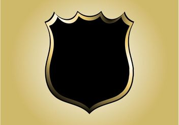Police Badge Vector - vector gratuit #160095