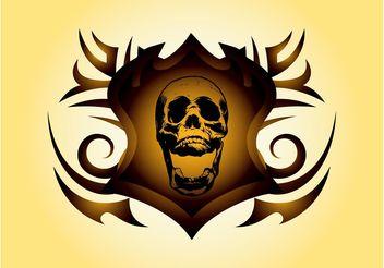 Skull Shield Vector - Kostenloses vector #160245