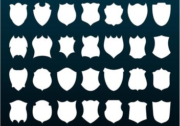 Shields Silhouettes - vector #160285 gratis
