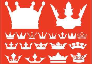 Royal Crowns Collection - vector gratuit #160335