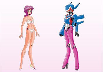 Anime Robot Girl - Kostenloses vector #160505