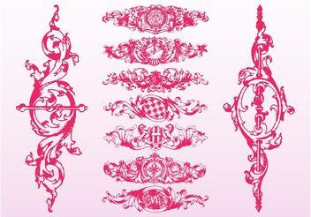Baroque Floral Scrolls - Free vector #160515