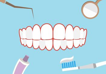 Dental theme background - vector gratuit #160555