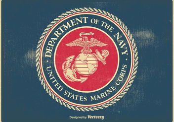 Vintage US Marine Corps Seal - vector #160615 gratis