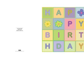 Happy Birthday - Kostenloses vector #160655