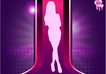Fashion Model Silhouette - vector gratuit #160665