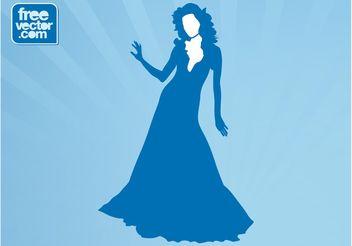 Elegant Vector Lady - бесплатный vector #160785