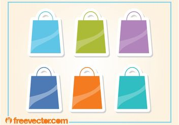 Shopping Bags Icons - vector gratuit #160795