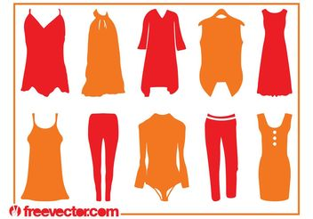 Clothing Silhouettes - Free vector #160805