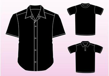 Shirt Vectors - Free vector #160865