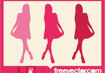 Pink Model Silhouette - Free vector #160885
