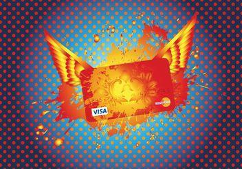Mastercard Visa Credit Card - vector gratuit #160945