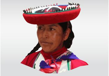 Peruvian Woman - Free vector #160975