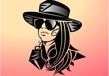 Lady Gaga Portrait - Free vector #161155