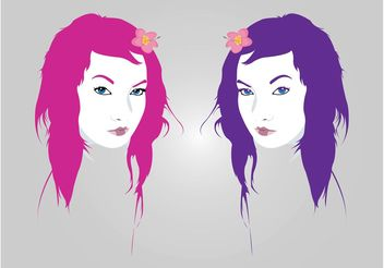 Pretty Girls Vectors - Free vector #161205