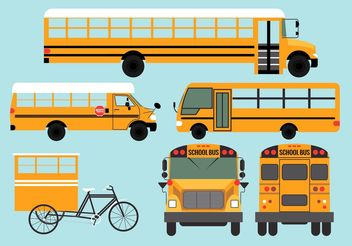 School Bus Vectors - vector gratuit #161275
