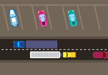 Car Traffic And Parking Vector - Free vector #161295